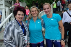 Helena Fibingerová, Barbora Špotáková a Denisa Rosolová