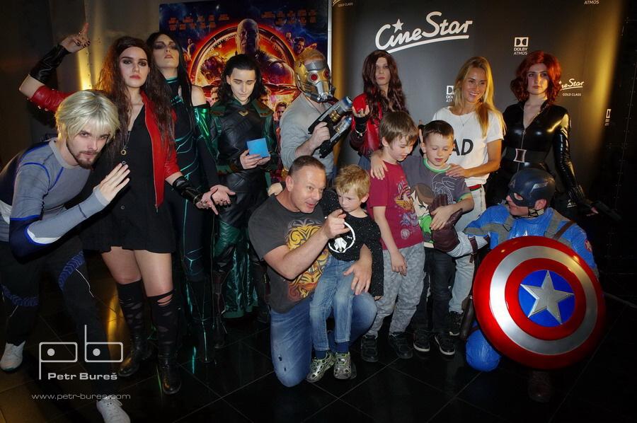 Avengers team, Michal Dvořák a DJ Lucca Lucie Kvasnisová se syny