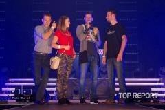 Petr Vojnas s vítězi posluchačské soutěže rádia Kiss