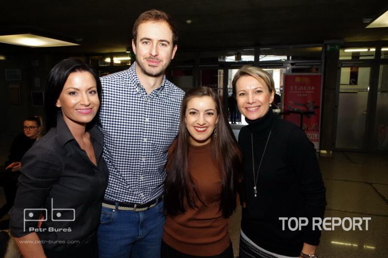 Gabriela Partyšová, Miroslav Hrabě, Genny Ciatti a Monika Dvořáková