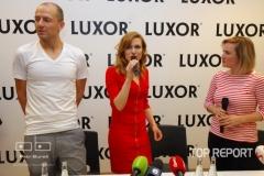 Martin Moravec, Gabriela Koukalová a Lenny Trčková