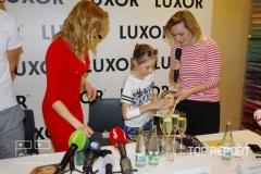 Gabriela Koukalová a Lenny Trčková s malou kmotřičkou Klárkou