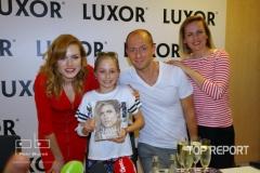 Gabriela Koukalová, Martin Moravec a Lenny Trčková s malou kmotřičkou Klárkou