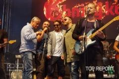 Richard Tesařík, Ivan Vodochodský, Jan Dolanský, Honza Žampa a Jakub Prachař při natáčení klipu skupiny Brno Mars