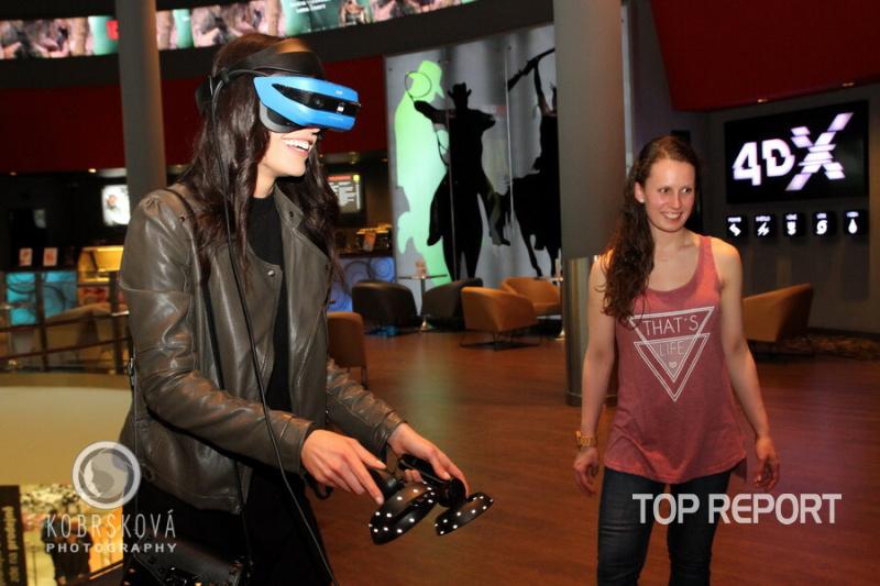 Tereza Budková u virtuální reality