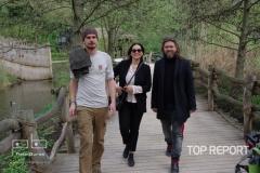 Jitka Čvančarová na procházce v ZOO Praha