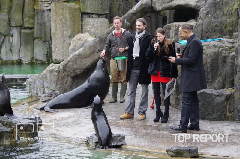 Předání symbolického šeku výtěžku skupiny Laura a její tygři