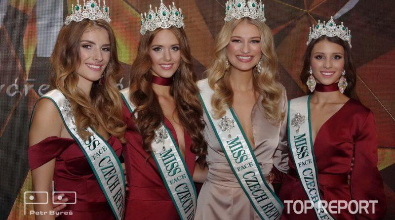 Miss Face: Veronika Volkeová, Kristýna Langová, Kateřina Kasanová a Daniela Zalešáková