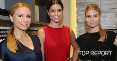 Alice Bémová, Anna Avakjanová a Nicole Ebnerová v modelech Escada